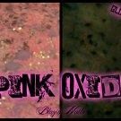 'pink oxide' glitter acrylic mix glow