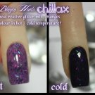 'chillax' glitter acrylic mix colour change