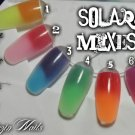 colour change acrylic colours - orange / red