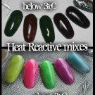 heat reactive colour change acrylic mixes neon - blue / black