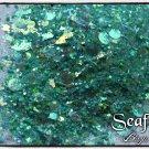 sea foam - glitter mix