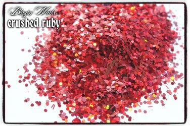 'crushed ruby' glitter mix