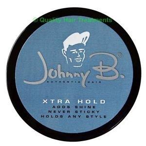 Johnny B Xtra Hold Hair Styling Pomade 2.25 oz - Adds Shine, Never Sticky