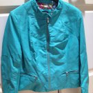 turquoise colored jacket by leather touch the perfect leather alternative size extra large