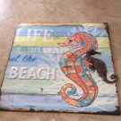 Life is Better At the Beach Nautical Metal Beach Decor Art