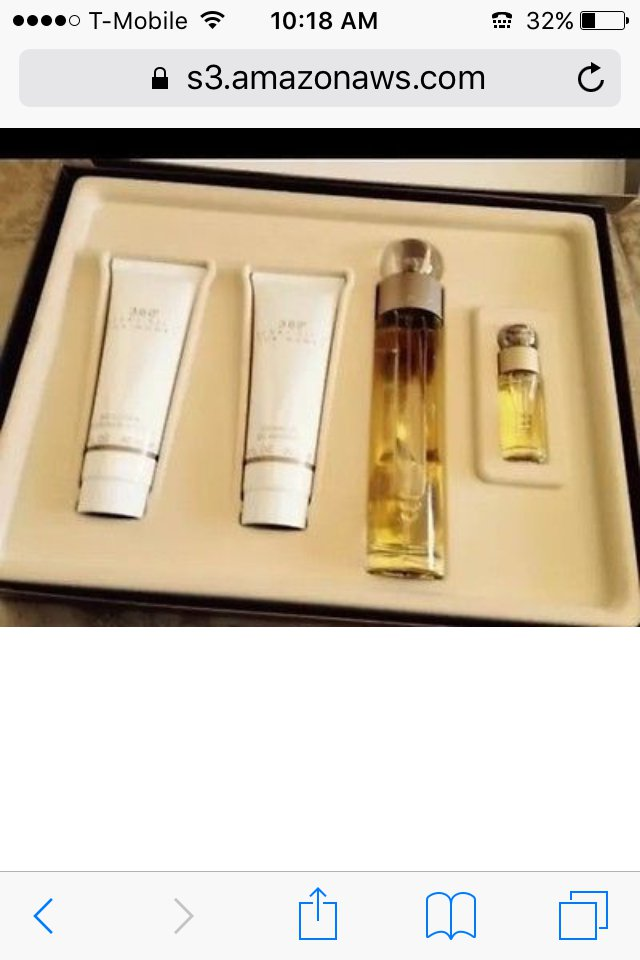 360 degrees for women 4 piece fragrance set by designer perry ellis
