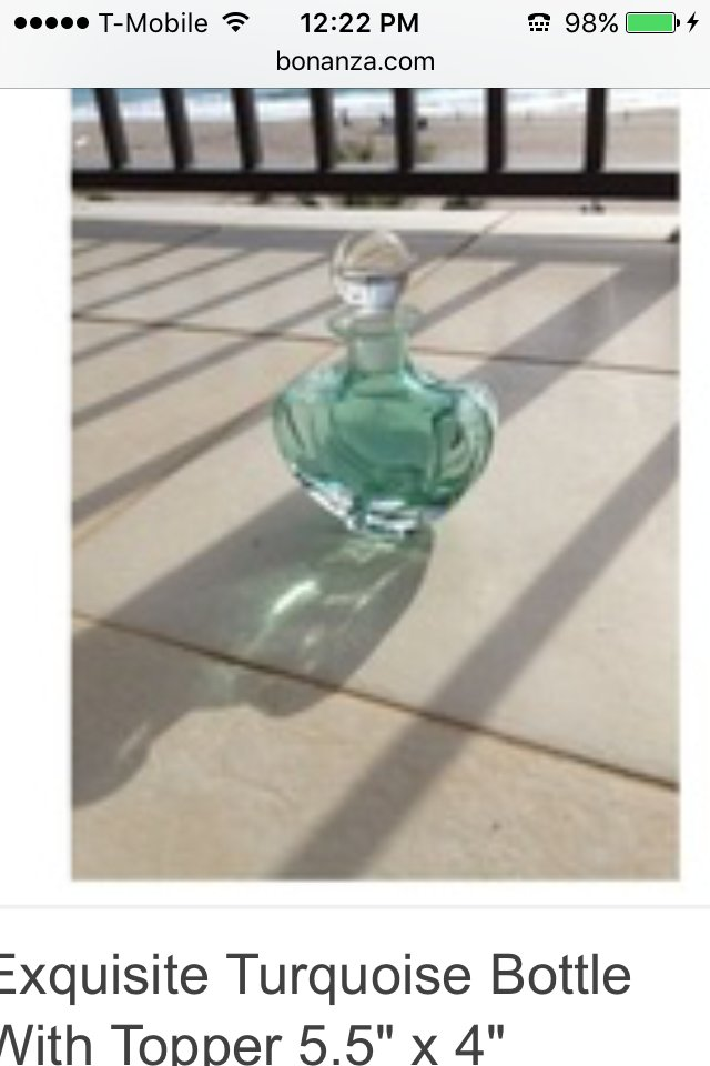 exquisite design sea foam glass bottle with stopper