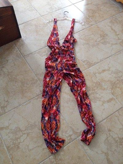 multicolored jumpsuit size large by Ali & kris