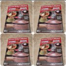 Set Of 4: Stone Wave Microwave Cookers with recipe booklet
