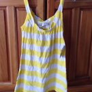 women's top yellow & white striped sleeveless shirt by O'Neill size medium