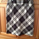 Women's Black Plaid Skirt Size 12 by New York Clothing Company