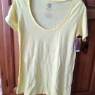 Women's yellow short sleeve scoop neck top size small by Element