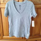 Women's v neck grey top by roxy size small