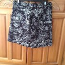 Women's Black Print Skirt Size 8 by E P Pro