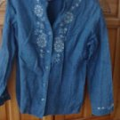 Women's Denim Long Sleeve Top Size 10 P by Style & Co Collection Petite