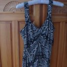 Women's Black Print Top Size Medium by White House Black Market