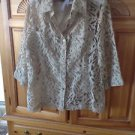 Womens Tan Camisole & Blouse Set Size Small by White Stag