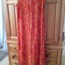 Women's Tangerine Print Sleeveless Dress Size Medium