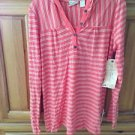 women's striped top with hood size large by O'Neill ^