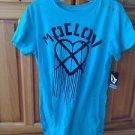 women's top turquoise short sleeve size large by Volcom