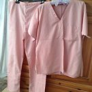 Women's Soft Pink Scrubs Set Size Small Beautiful Condition