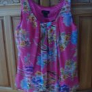 Women's Pink Print Lined Sleeveless Blouse Size Small by Spense
