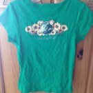 Women's Top by Coastal Classics Size Large Green ^