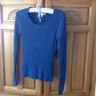 Womens Blue Knit Top Long Sleeve Size Small by St Johns Bay