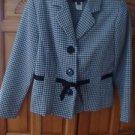 Women's Polka Dot Jacket Size 10 P by Sweet Suit Petite
