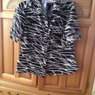 Womens Black Print Blouse Size 12 by Alfani