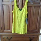 women's yellow tank top by Volcom size extra small