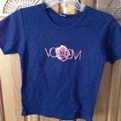Womens short sleeve navy blue volcom top size medium