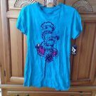 Women's Volcom Size Medium Turquoise Top