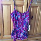 Women's plaid camisole top size large by roxy