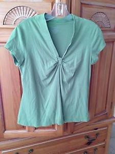Womens Light Green Short Sleeve Top By George Size Medium