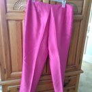 Women's Pink Silk Beaded Pants Size 14 By Ann Taylor ^