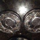 set of 2 decorative glass plates
