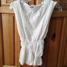 Women's cream bubble sleeveless top size large by Billabong