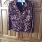 Stunning Womens 2 Way Zippered Jacket Size Small by Casual Studio