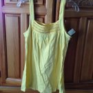 Women's yellow camisole top size large by volcom