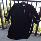 Velour Short Sleeve Size Large Shirt By Run Athletics Black And White