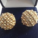 1940's vintage jewelry beautiful sparkling clip-on earrings