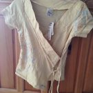 Women's print wrap top by billabong size large