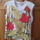 Womens multicolored sleeveless shirt Size large by Rusty ^
