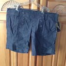 Women's Gray Sailor type Button Shorts Size 7 By O'Neill