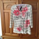 Womens Print Top Size Medium by Karen Scott 100% Cotton