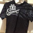 black short sleeve t shirt by element size medium