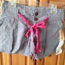 Women's Element Soft Print Belted Grey Shorts Size 5