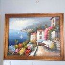 "Feel like you're on the Italian riviera mediterranean painting Rossini 43"" X 56"""