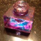 Multicolored glass ink well